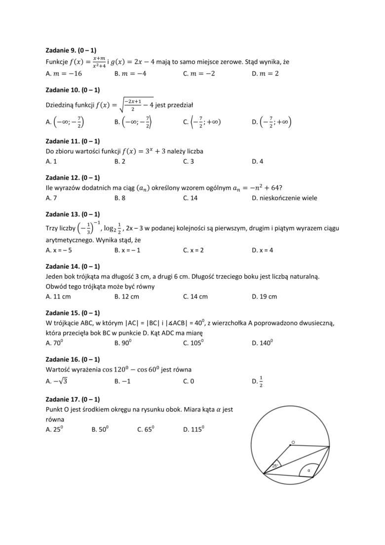 Matura próbna 2019: matematyka, poziom podstawowy. Pobierz arkusze, tematy, klucz odpowiedzi [ZDAJ MATURĘ Z NOWINAMI]