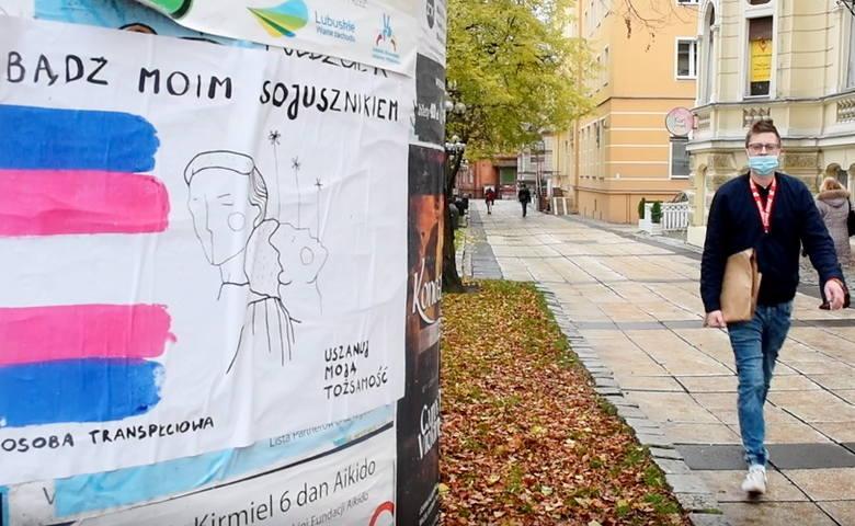 Plakaty informacyjne powstały w ramach akcji społecznej zainicjowanej przez zielonogórski Instytut Równości.