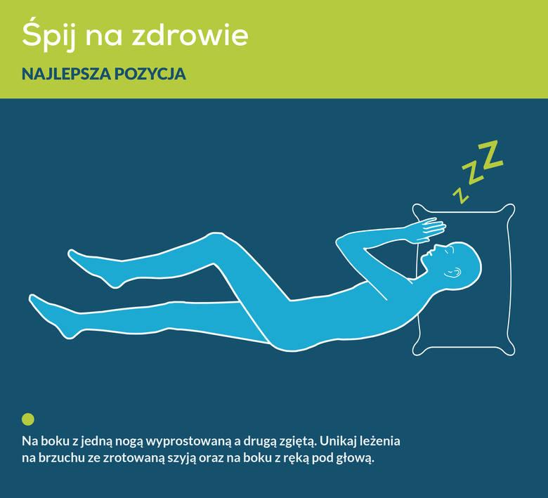 Najzdrowsza pozycja podczas snu, która jest korzystna nie tylko dla kręgosłupa, ale również dla mózgu (ułatwia procesy oczyszczania jego układu limfatycznego),