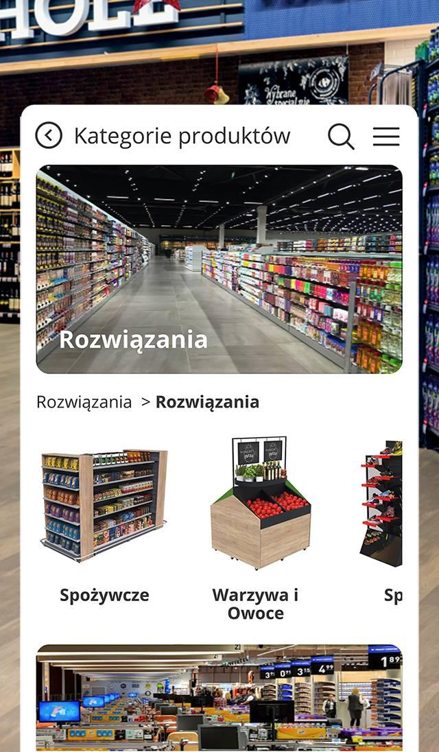 AR SHOPFITTING - aplikacja w smartfonie pozwala błyskawicznie dobrać idealne meble do każdego sklepu