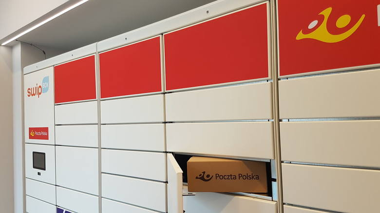 Tak wygląda pierwszy automat paczkowy Poczty Polskiej. Działa podobnie jak paczkomat Inpostu