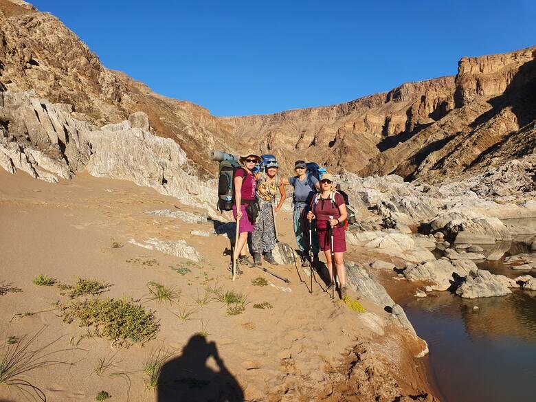 Żeńska formacja w Fish River Canyon