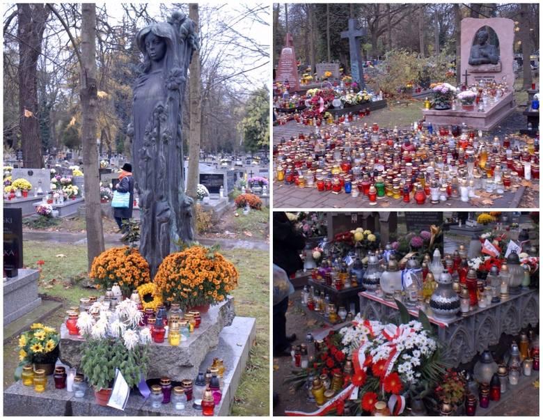 W Dzień Zaduszny pokazujemy jak wyglądają groby zasłużonych osób na cmentarzu Rakowickim w Krakowie. Zobaczcie zdjęcia! >>>