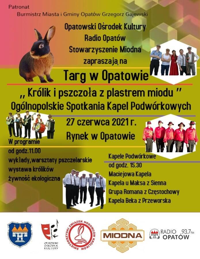 W niedzielę Targ i Ogólnopolskie Spotkania Kapel Podwórkowych w Opatowie