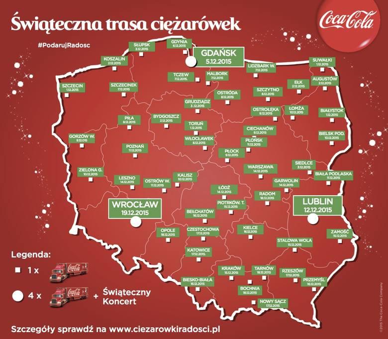 Krakow Swiateczna Ciezarowka Coca Coli Zagosci Przy Galerii