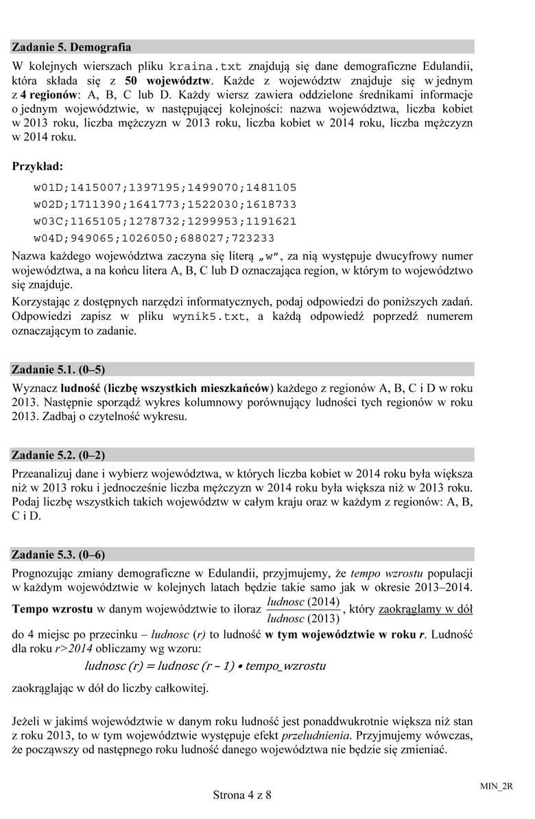 Matura 2015 Informatyka Poziom Podstawowy I Rozszerzony