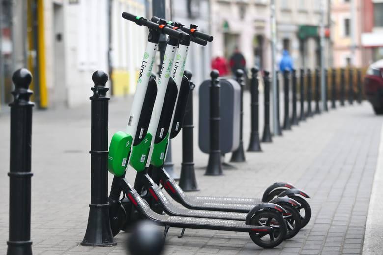 Hulajnogi elektryczne można wypożyczać w wielu polskich miastach