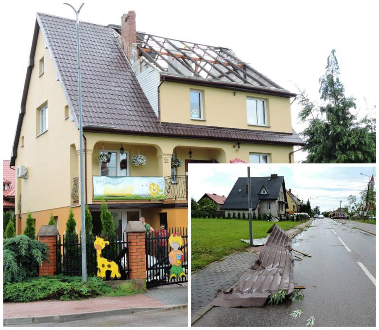 Nawałnica wyrwała część dachu przedszkola (ZDJĘCIA)