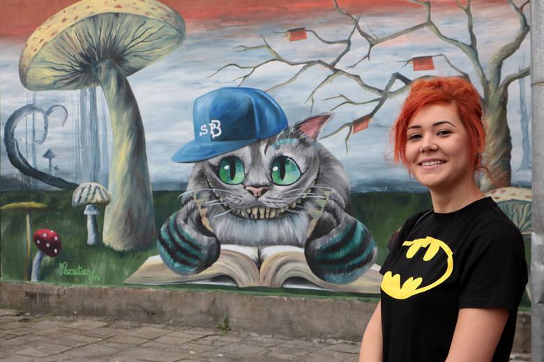 Małgosia Owczarz Namalowała Kolejny Mural Dla Dzieci W Grudziądzu