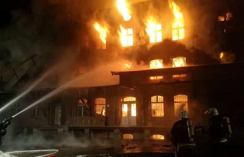 Pożar młyna w Byczynie
