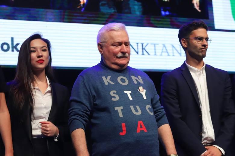 Wybory parlamentarne 2019. Konwencja Koalicji Obywatelskiej w Warszawie. Lech Wałęsa: PiS chce przekręcić wybory