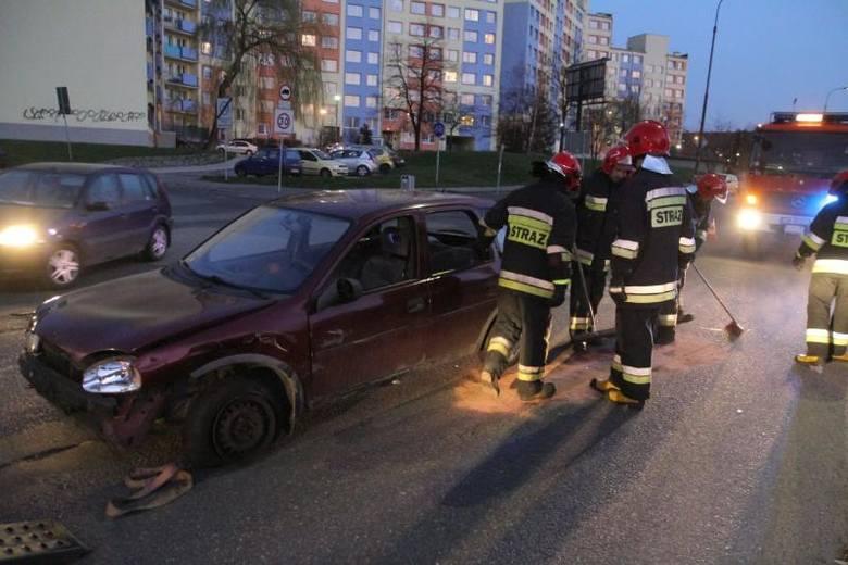 Wypadek na Gwareckiej, Wrocław, 09.04.2015