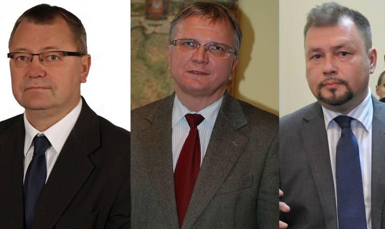 Kandydaci na burmistrza  Kluczborka. Od lewej: Tomasz Białaszczyk, Jarosław Kielar i Piotr Włodarczyk.