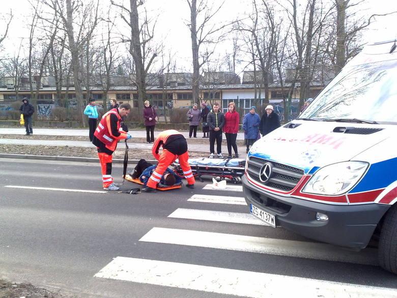 Potrącenie pieszej w Koszalinie.
