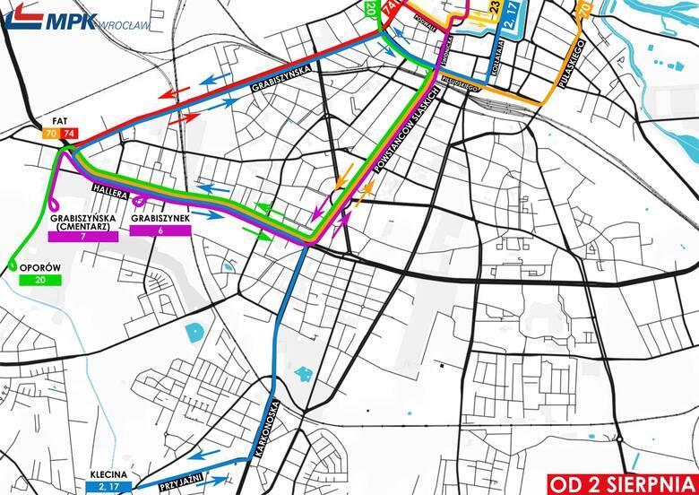 Duże zmiany w kursowaniu MPK we Wrocławiu. W weekend rozpoczyna się wymiana rozjazdu na skrzyżowaniu Powstańców i Hallera