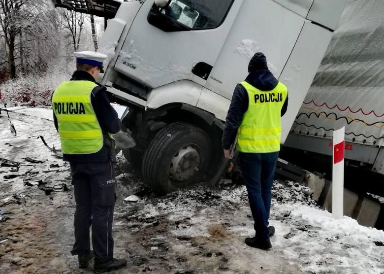 Wypadek na trasie Bytów-Borzytuchom