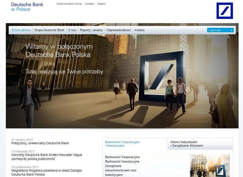Strona internetowa Deutsche Banku