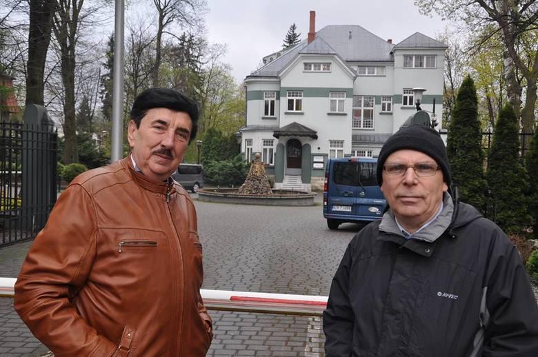 Henryk Nowok i śp. Lucjan Tomecki. Niestety nie doczekał wyjaśnianie sprawy fontanny do końca.