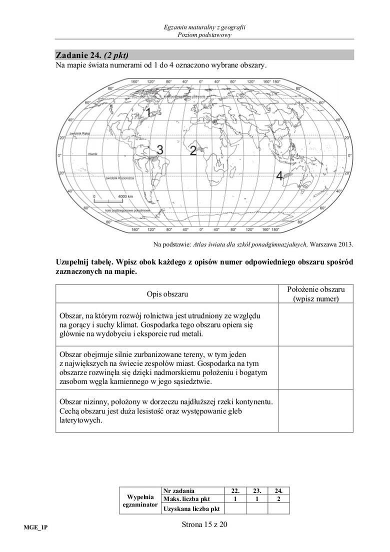 We wtorek MATURA Z GEOGRAFII 16.05.2017 tysiące uczniów w całej Polsce pisze od godziny 14. MATURĘ Z GEOGRAFII. Jakie pytania będą na maturze z geografii?