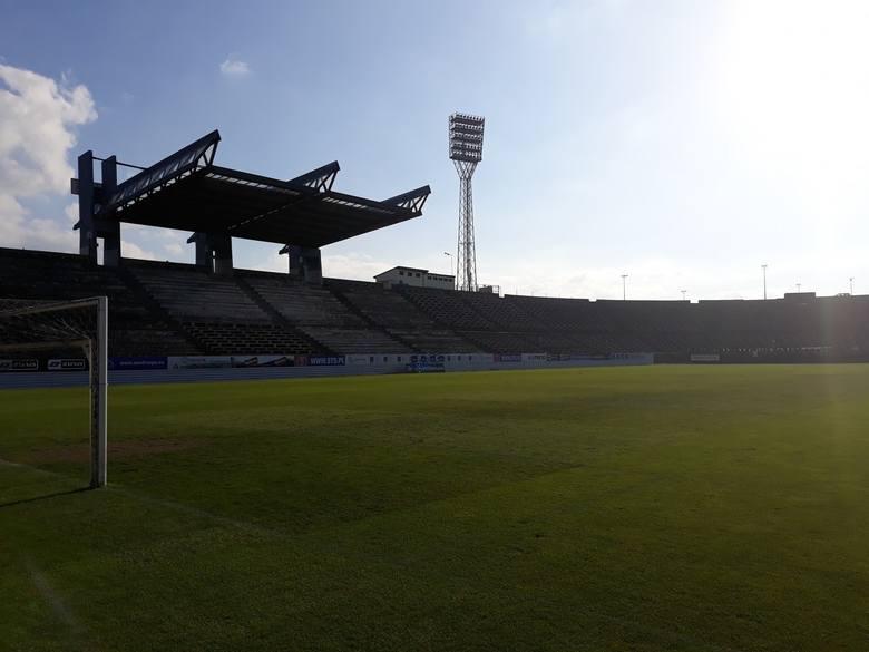 Stadion w Szczecinie - trwa przebudowa.
