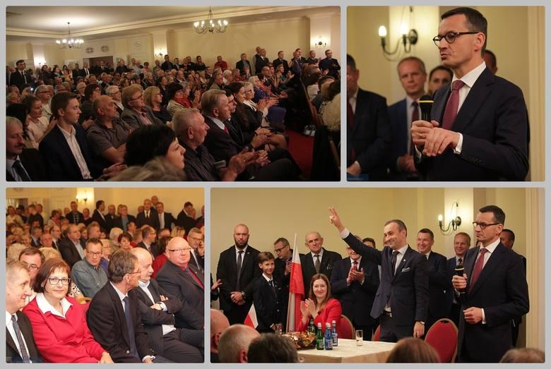 Premier Mateusz Morawiecki w czwartek był w naszym regionie. Odwiedził Siarzewo, miejsce przyszłej zapory na Wiśle oraz Włocławek. W hotelu Aleksander