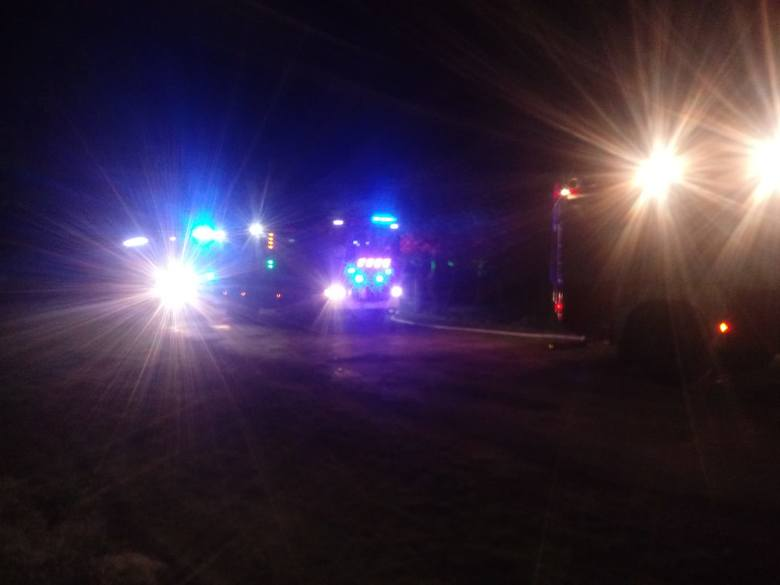 Do pożaru doszło kilkanaście minut po północy. W akcji brało udział dziewięć jednostek straży pożarnej.