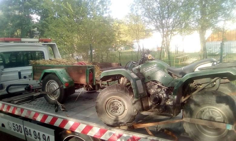 Do wypadku doszło w poniedziałek, 20 maja, na ul. Olimpijskiej w Drzonkowie. Quad uderzył w ogrodzenie posesji. Jedna osoba została ranna.Kierująca quadem