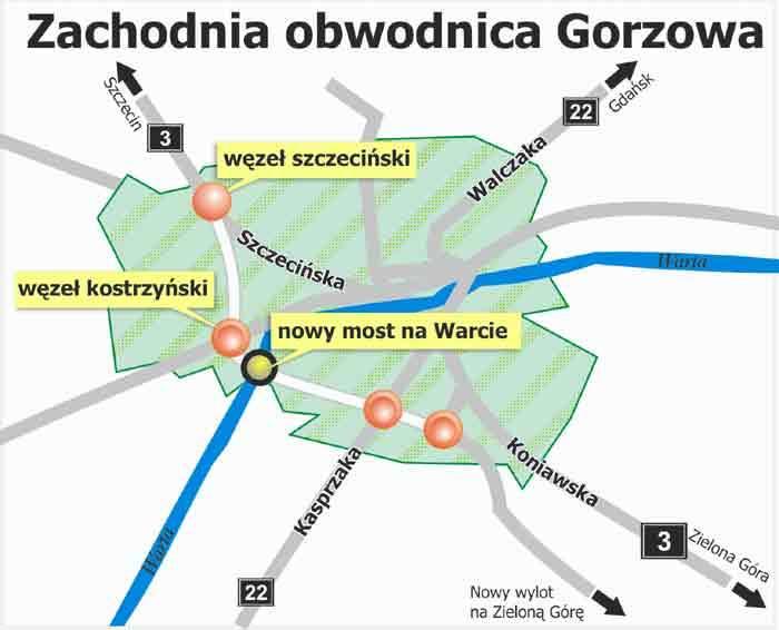 Tranzyt ze Szczecina na Poznań i Zieloną Górę ominie Gorzów