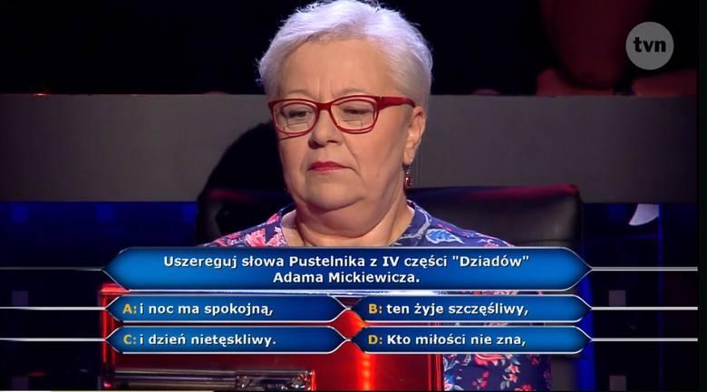 """Wygrana w Milionerach TVN 21.03.2018. Maria Romanek wygrała """"Milionerów"""" Pytanie za milion 21 marca 2018"""