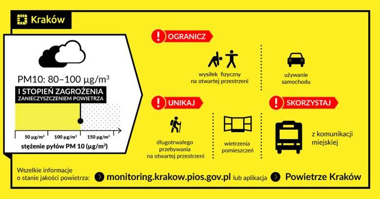 Raport smogowy dla Krakowa