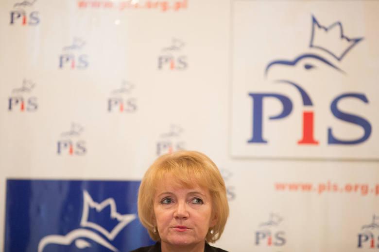 Konferencja prasowa Jolanty Szczypińskiej.