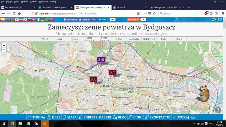 Smog w Bydgoszczy. Nasze miasto z najgorszym powietrzem w kraju. Normy jakości powietrza przekroczone ekstremalnie!