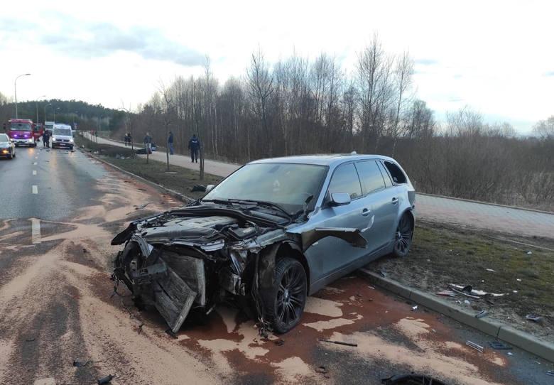 Do poważnego wypadku w wyniku którego zderzyły się trzy pojazdy doszło na obwodnicy Brodnicy w czwartek, 18 marca ok. godz. 17.