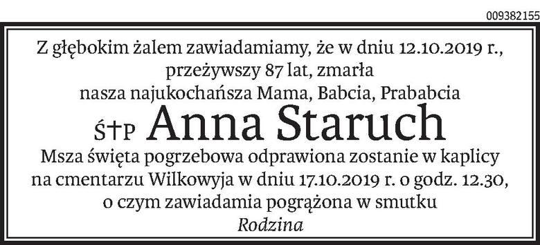 Nekrologi i Kondolencje z dnia 16 października 2019 roku