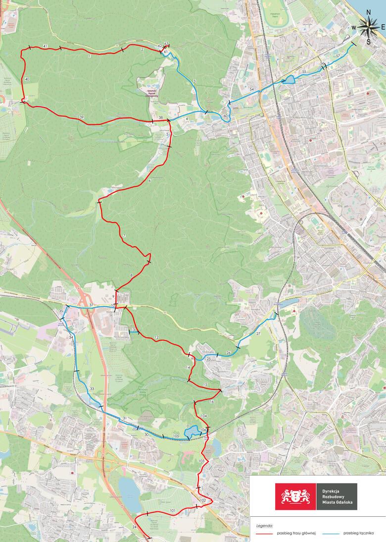 Będzie nowy szlak rowerowy w Trójmiejskim Parku Krajobrazowym. Połączy Jasień z Gdynią