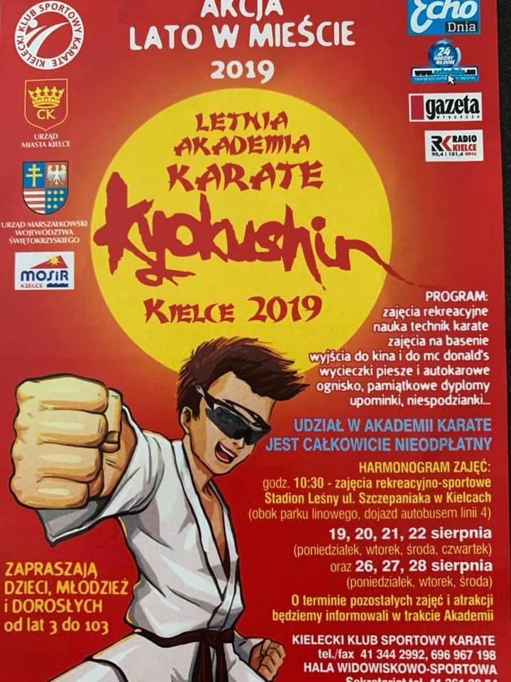 Akademia karate w Kielcach od poniedziałku. Udział bezpłatny, czekają też basen i kino