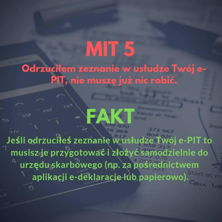 KAS publikuje mity i fakty o usłudze Twój e-PIT.