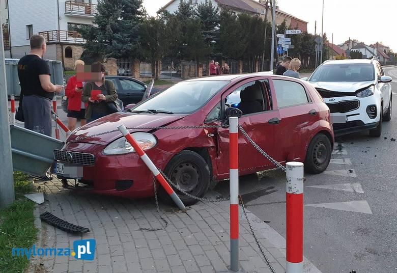 Łomża. Wypadek na ul. Sikorskiego. Dwie osoby w szpitalu [ZDJĘCIA]
