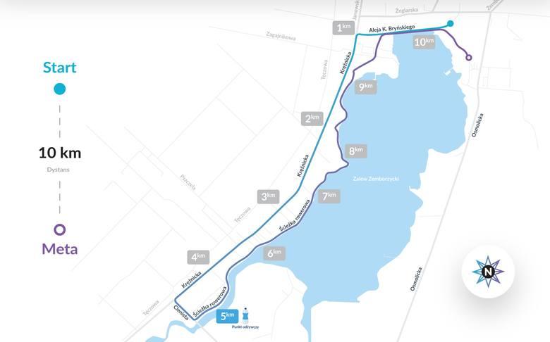 Pierwsza Dycha do Maratonu 2019. Trasa biegu