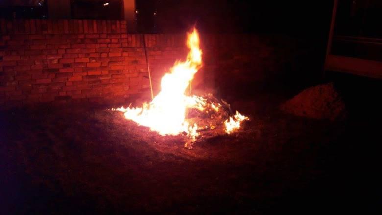 pożar w Cybince