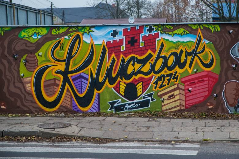 Mural przy ul. Wołczyńskiej w Kluczborku.