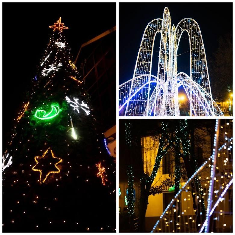 Świąteczna atmosfera zawitała do Wysokiego Mazowieckiego. Centrum miasta rozświetliły setki lampek! Jest też wielka choinka z ozdobami i pięknie przystrojona