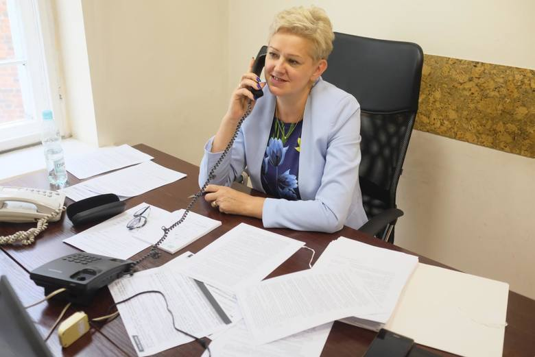 """W redakcji """"Nowości"""" gościły wicedyrektor oddziału ZUS w Toruniu Wanda Stróżyk (z prawej) i rzecznik regionalny ZUS Krystyna Michałek"""