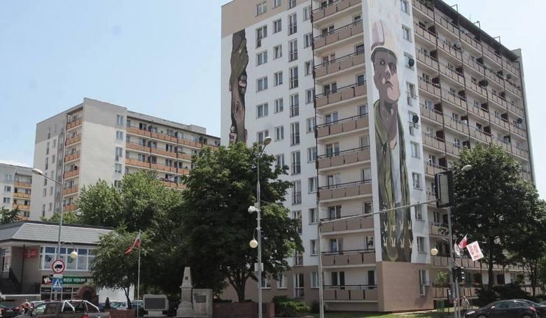 Przykładowy mural jaki powstał w Radomiu na pamiątkę wydarzeń z Czerwca'76