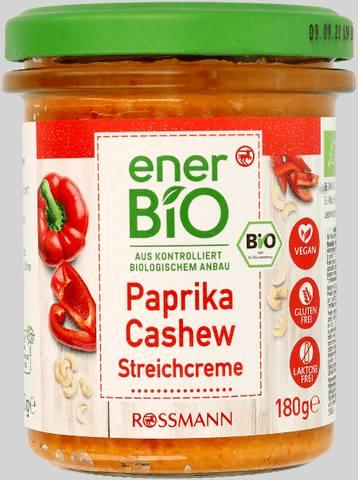 Wycofany produkt: enerBiO pasta kanapkowa papryka-nerkowce 180g EAN 4305615677538