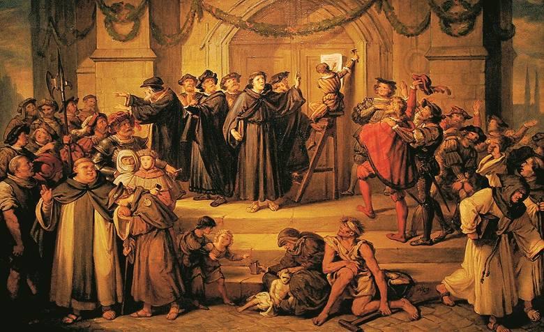 Legenda głosi, że dr Marcin Luter przybił swoje słynne 95 tez na drzwiach kościoła zamkowego w Wittenberdze