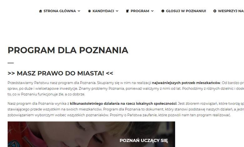 Wybory samorządowe 2018: Gdzie są programy wyborcze poznańskich komitetów?