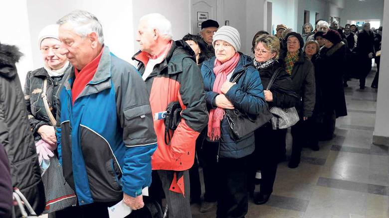 Tłumy w ratuszu w Koszalinie