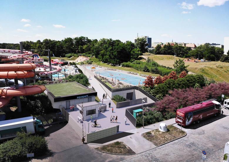 Rusza rozbudowa wrocławskiego Aquaparku. Będzie sporo nowości i więcej zieleni.