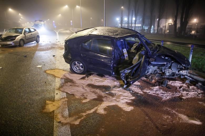 Wypadek na trasie Górna! Bez prawa jazdy uciekał przed policją pod prąd! [FILM, zdjęcia]